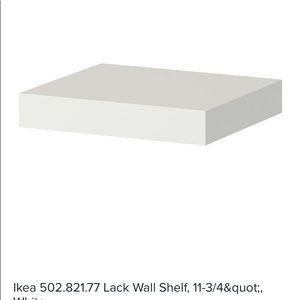 3 IKEA WHITE SHELVING UNITS 30 x 26 cm
